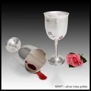 S0997 Silver Wine Goblet