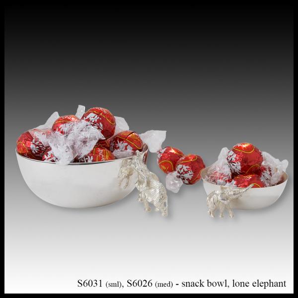 S6031 S6026 snack bowl lone elephant