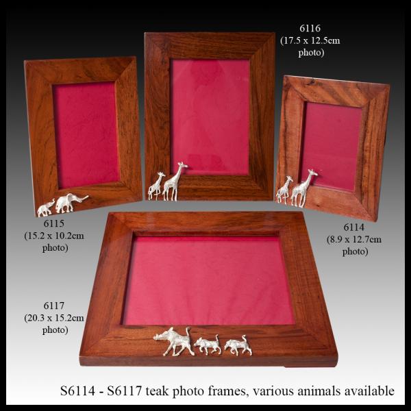 S6114 – S6117 teak photo frames