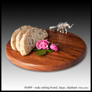 teak cutting board elephant