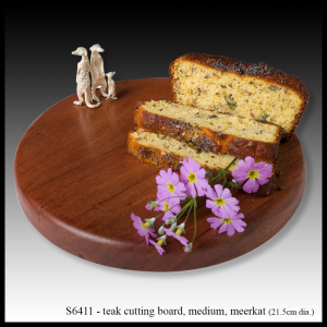 teak cutting board meerkat