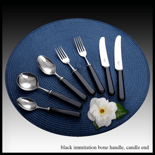 Black immitation bone handle – candle end