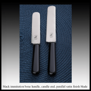 Black immitation bone handle – candle end parallel blade