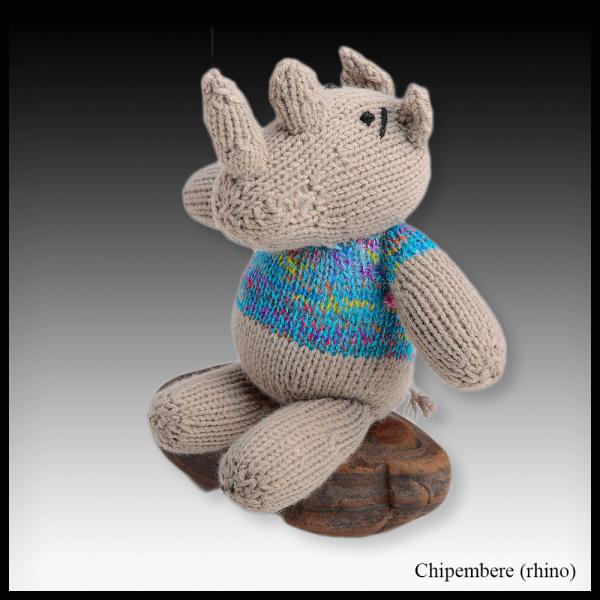 Chipembere the rhino sitting