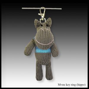 Mvuu the hippo key ring