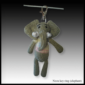 Nzou the elephant key ring