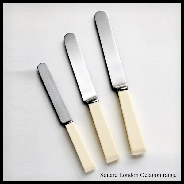 Cream handled cutlery Square London Octagon range