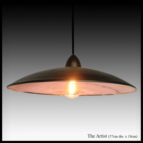 The Artist pendant copper light shade
