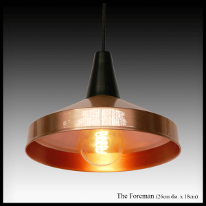 The Foreman copper pendant light shade