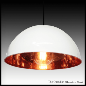 The Guardian copper pendant lamp shade
