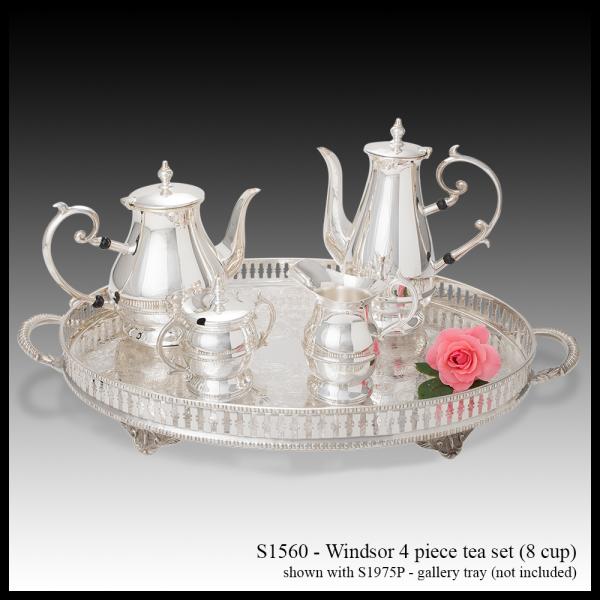 S 1560 Windsor Tea Set & S1975 Gallery Tray