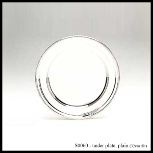S0060 silver under plate / charger plate