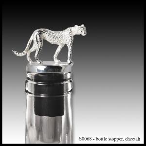 silver bottle stopper cheetah