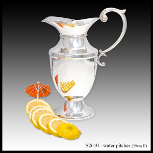 S2610 silver water pitcher