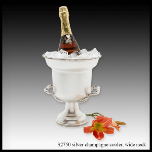 S2750 silver champagne cooler wide neck