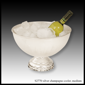 silver champagne cooler