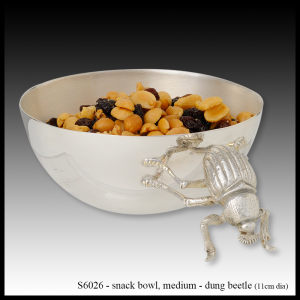 silver snack bowl dung beetle