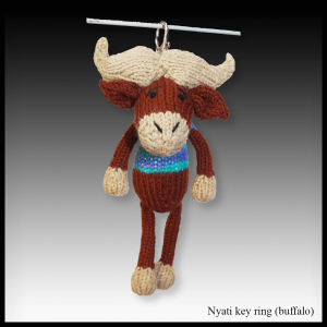 Nyati the buffalo key ring