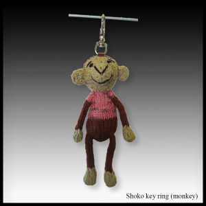 Shoko the monkey key ring