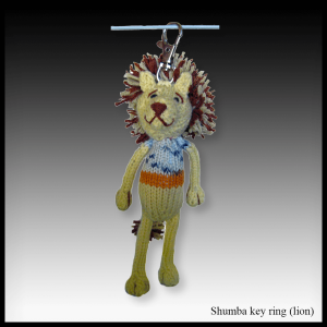Shumba the lion key ring