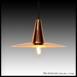 The Extrovert copper pendant lamp shade