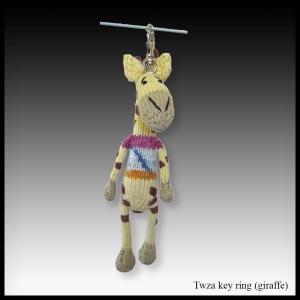 Twaza the giraffe key ring